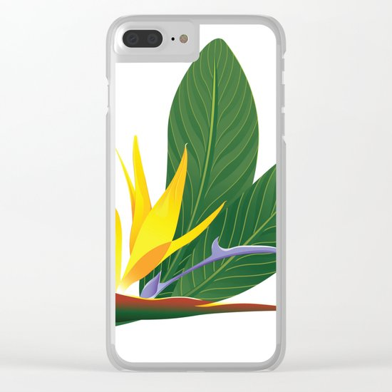 bird of paradise flower Clear iPhone Case