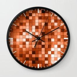 COPPER CUBES Wall Clock