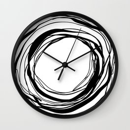 Abstract Line No.17 Black and White Wall Clock
