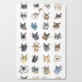 50 cat bleps! Cutting Board