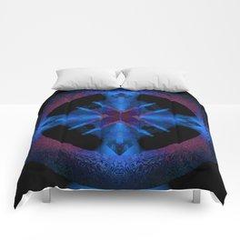 Spinning Wheel Hubcap in Blue Comforters