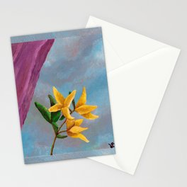 Victorian Forsythia Stationery Cards