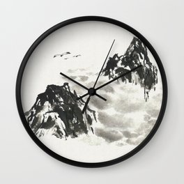 Mountain high Wall Clock