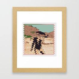 Warped Woman Framed Art Print