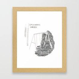 Childhood's garden Framed Art Print