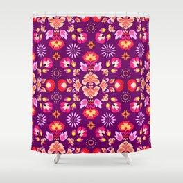 Fiesta Folk Purple #society6 #folk Shower Curtain