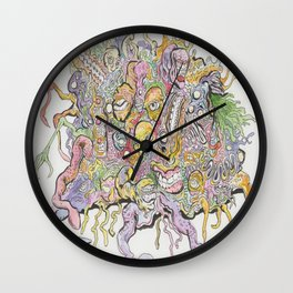 funky horror Wall Clock
