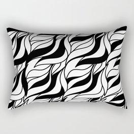 Zebra pattern / Back and white waves Rectangular Pillow