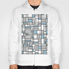 Map Lines Sky Blue Hoody