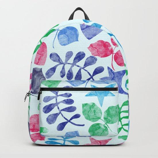 Watercolor Floral Pattern II Backpack