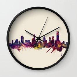 Melbourne Skyline Wall Clock