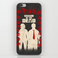 shaun of the dead iPhone & iPod Skins featuring Shaun Of The Dead by Bill Pyle