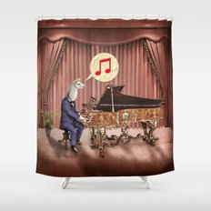 LA-LA-LA-Llama! Shower Curtain
