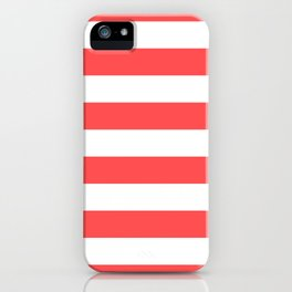 Coral Stripes iPhone Case