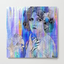 Clara Bow:  I'll See You In New York Metal Print