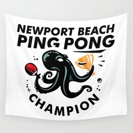 Newport Beach Ping Pong Classic Champion Wall Tapestry
