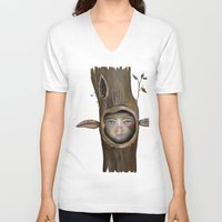 tree of life V-neck T-shirts featuring Tree Life by Fizzyjinks