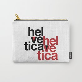 Suisse Swiss Helvetica Type Specimen Artwork in White Carry-All Pouch
