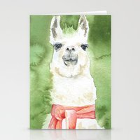 llama Stationery Cards featuring Llama by Susan Windsor
