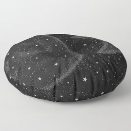 Starry Boho Moons Floor Pillow