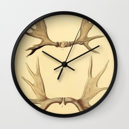 Antique Antlers Wall Clock