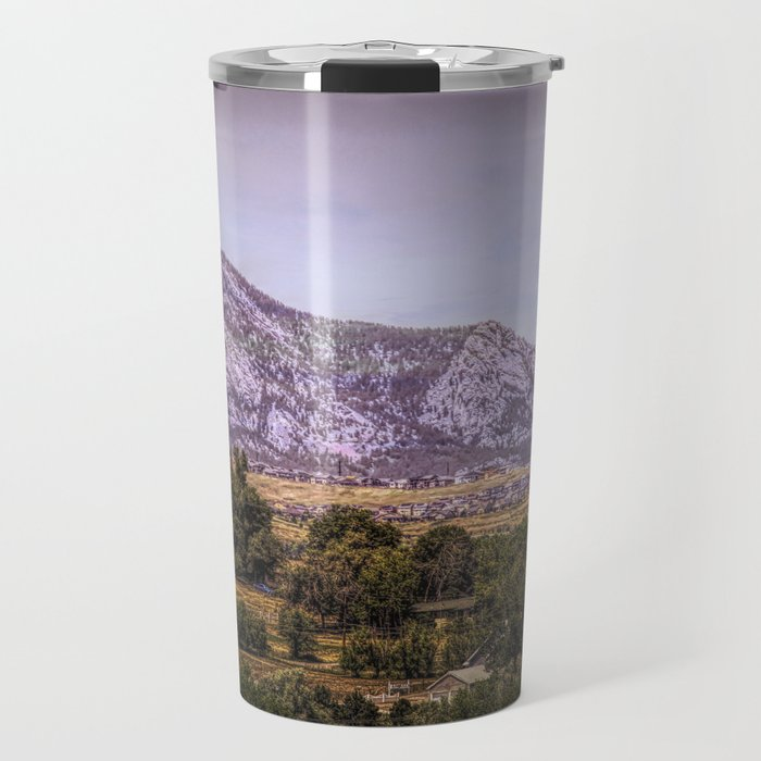 Mountains overlooking Colorado Springs, Colorado Travel Mug