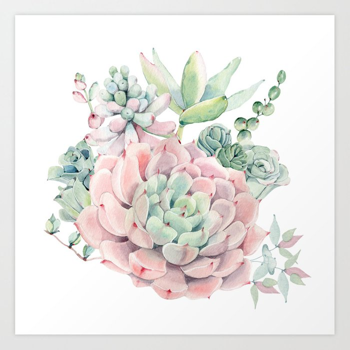 Pink Succulents By Nature Magick Art Print By Naturemagick