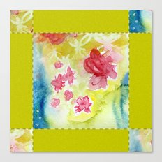 Watercolor Quilt Canvas Print