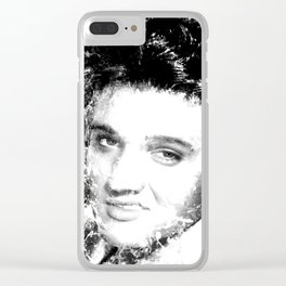 ELVIS (BLACK & WHITE VERSION) Clear iPhone Case