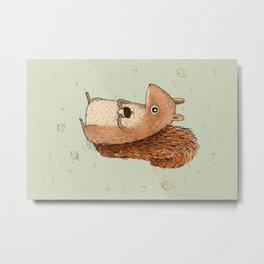 Sarah the Squirrel Metal Print