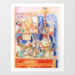 A good place at home - James Sidney Edouard Baron Ensor Art Print