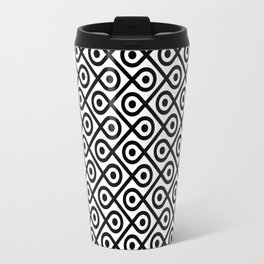 Geometric Pattern #197 (dots loops black) Travel Mug