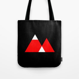 Mountain Triangle Snow Nerd Hipster Tote Bag
