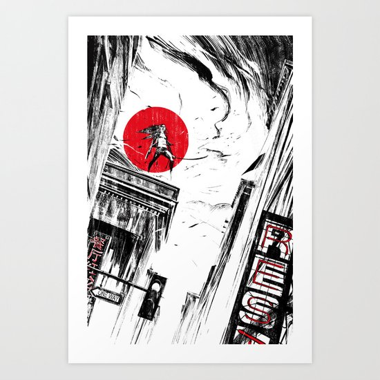 Kiss of Vengeance II Art Print