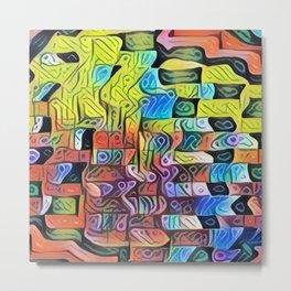 Colorful Cubist Metal Print