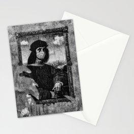 Renaissance Face Street Art Stationery Cards