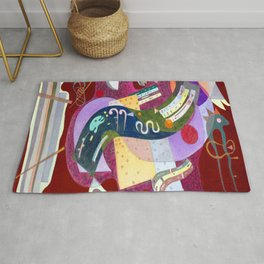 Wassily Kandinsky Rigid and Curved Rug