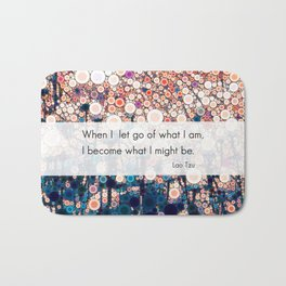 Daily Meditation Quote Bath Mat