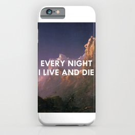 Every Night I Live and Die (Prometheus) iPhone Case