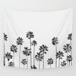 Black And White Palms 2 Wall Tapestry