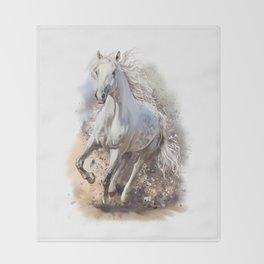 White Horse Gallop Throw Blanket