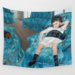 Mary Cassatt - Little Girl in a Blue Armchair Wall Tapestry