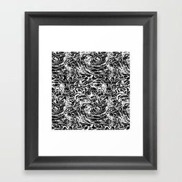 BLACK HUFF Framed Art Print