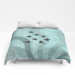 Loggerhead sea turtle hatchlings Comforters