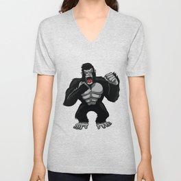 King Gorilla Unisex V-Neck