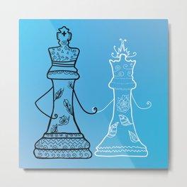 Chess King Qeen Metal Print