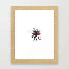Kute Krampus Framed Art Print