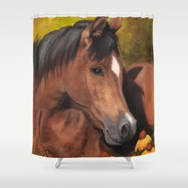 Little Brown Filly Shower Curtain