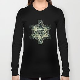 Sacred Geometry for your daily life -  Platonic Solids - IGNIS Long Sleeve T-shirt