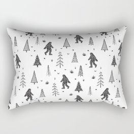 trees + yeti pattern Rectangular Pillow